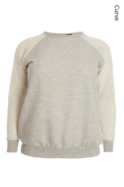 Curve Grey Marl Sweatshirt